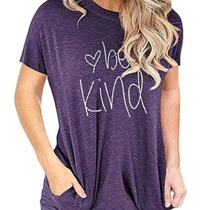 Be kind t-shirts for women on ChristsWays.com