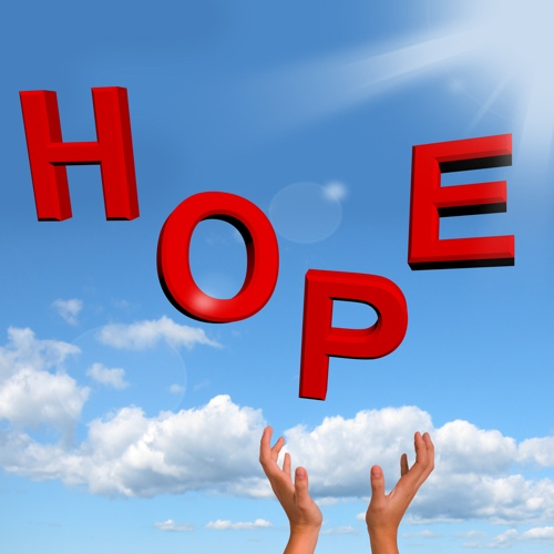 Knock on wood for hope, but more importantly, let Jesus help.